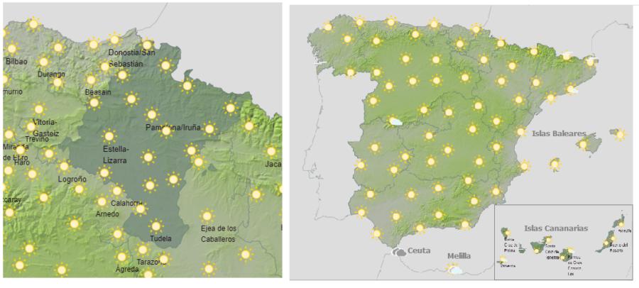 Hoy jueves riesgo extremo y extraordinario de altas temperaturas en España y en Navarra