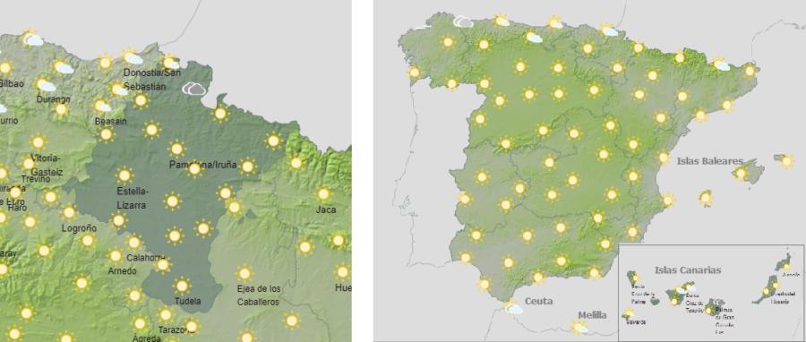 El tiempo hoy domingo, con riesgo naranja por temperaturas altas en buena parte de España
