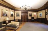 Colocado el retrato de Uxue Barkos en el Palacio de Navarra
