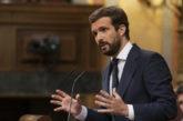 Casado a Abascal: El PP vota no, la moción de censura de Vox es
