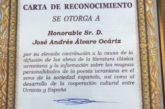 El escritor navarro Álvaro Ocáriz recibe la