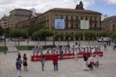 #LosViviremos en 2021: 1.528 fotografías en 12 metros de largo en la Plaza del Castillo de Pamplona