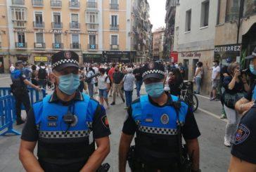 Policía Municipal supervisará el fin de semana los aforos de calles en el centro de Pamplona