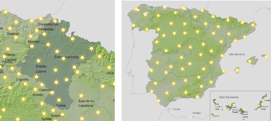 El tiempo para hoy sábado, riesgo importante por altas temperaturas en suroeste de España