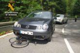 Ciclista herida grave en Leiza en una colisión con turismo