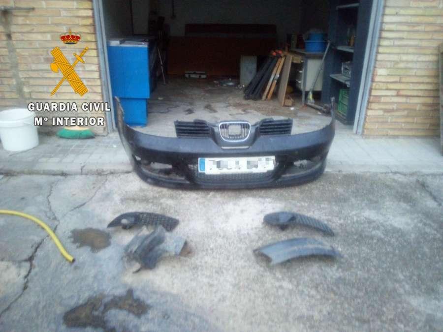 Detenidos por robar el paragolpes de un vehículo en San Adrián, Navarra