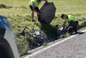 Herido grave un ciclista vecino de Pamplona accidentado en la NA 718