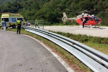 Trasladado al hospital de San Sebastián un ciclista accidentado entre Leiza y Goizueta