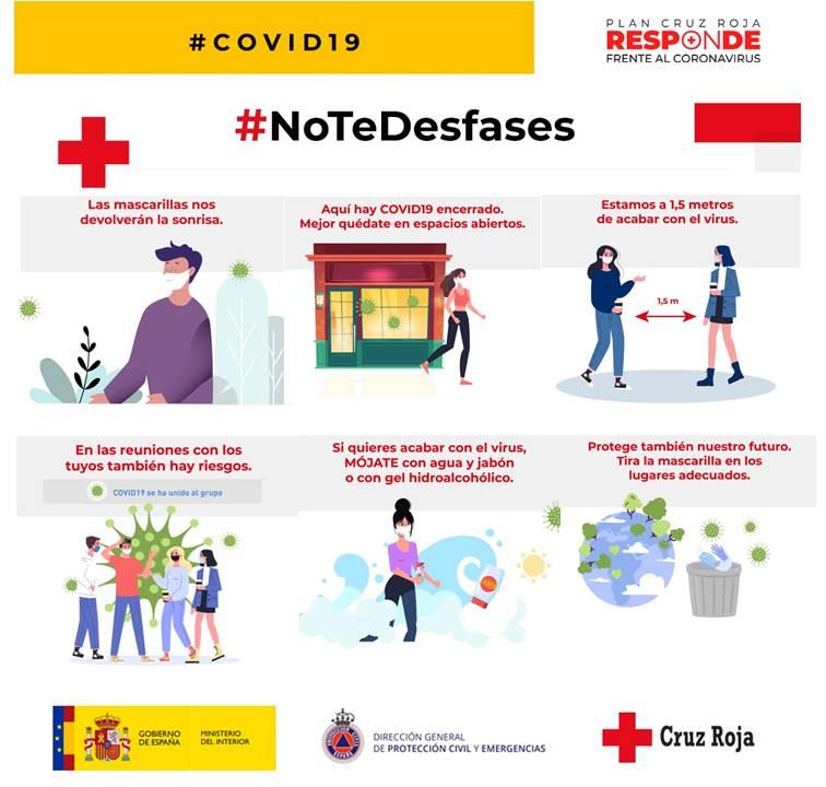 Cruz Roja invita a la responsabilidad individual y colectiva  en las #NoFiestas