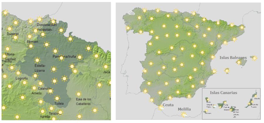 Hoy viernes aviso de alerta amarilla y naranja en Navarra y España