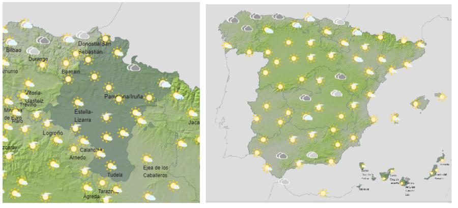 Hoy lunes tormentas y viento en Navarra y zonas del noreste de España
