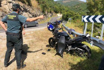 Trasladado al CHN un motorista en un accidente en Zubiri (Navarra)