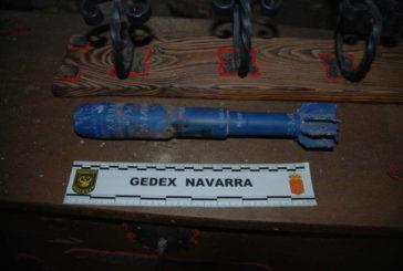 La Guardia Civil destruye dos artefactos explosivos localizados en Lizarraga y Mendigorría