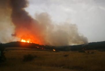 Incendio en Gazolaz