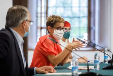 Chivite valora con los alcaldes de la Comarca de Pamplona adoptar medidas locales más restrictivas frente al coronavirus