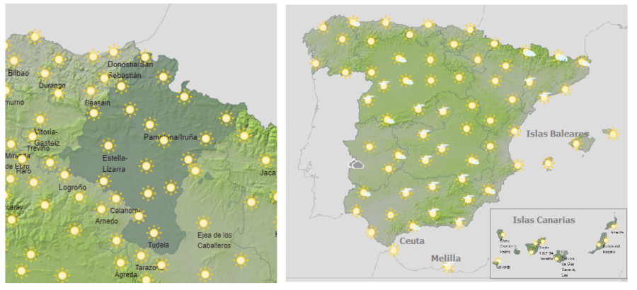Continúa la alerta amarilla y naranja por altas temperaturas en Navarra y gran parte de España
