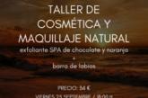 AGENDA: 25 de septiembre, en centro Biosphere Holistic Center, taller de cosmética natural