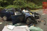 Tres heridos en una colisión frontal en Yanci (Navarra)