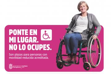 'Ponte en mi lugar. No lo ocupes', una campaña de concienciación sobre el uso de las plazas de aparcamiento para personas con discapacidad