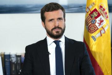 Casado exige a Sánchez el cese de los ministros que justifican la violencia