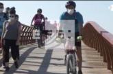 Abre la mayor pasarela peatonal europea en la Senda Litoral de Málaga