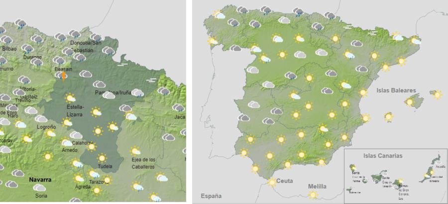 El tiempo para hoy domingo con viento fuerte en el litoral Cantábrico
