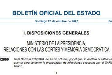 El BOE publica el nuevo estado de alarma del gobierno de Sánchez