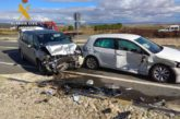 Llamativo accidente entre 3 vehículos en la N 122 sin causar daños personales