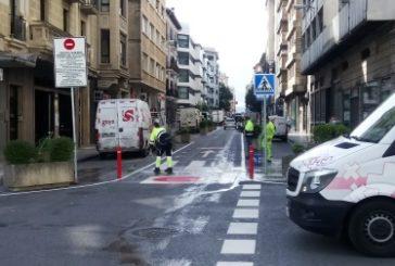 El Ayuntamiento de Pamplona reabrirá esta semana el segundo carril de la calle Amaya