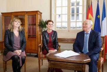 Chivite continuará con la colaboración interregional de Navarra, Pirineos Atlánticos y Guipúzcoa