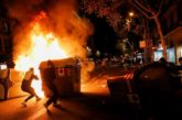 14 detenidos y 23 agentes heridos en Barcelona tras una protesta contra las restricciones por el coronavirus