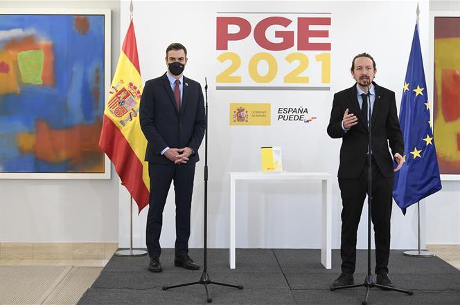 El Congreso aprueba los PGE 2021 con los votos de Bildu y ERC