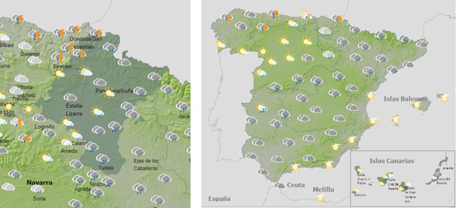El tiempo hoy viernes con lluvias, descenso térmico y nieve en las cordilleras de la mitad norte