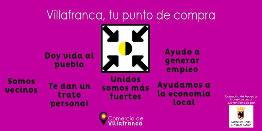 """En marcha la campaña de apoyo al comercio local: """"Villafranca, tu punto de compra"""""""