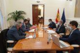 El ministro de Justicia Campo recibe al consejero Eduardo Santos dentro del programa Next Generation EU