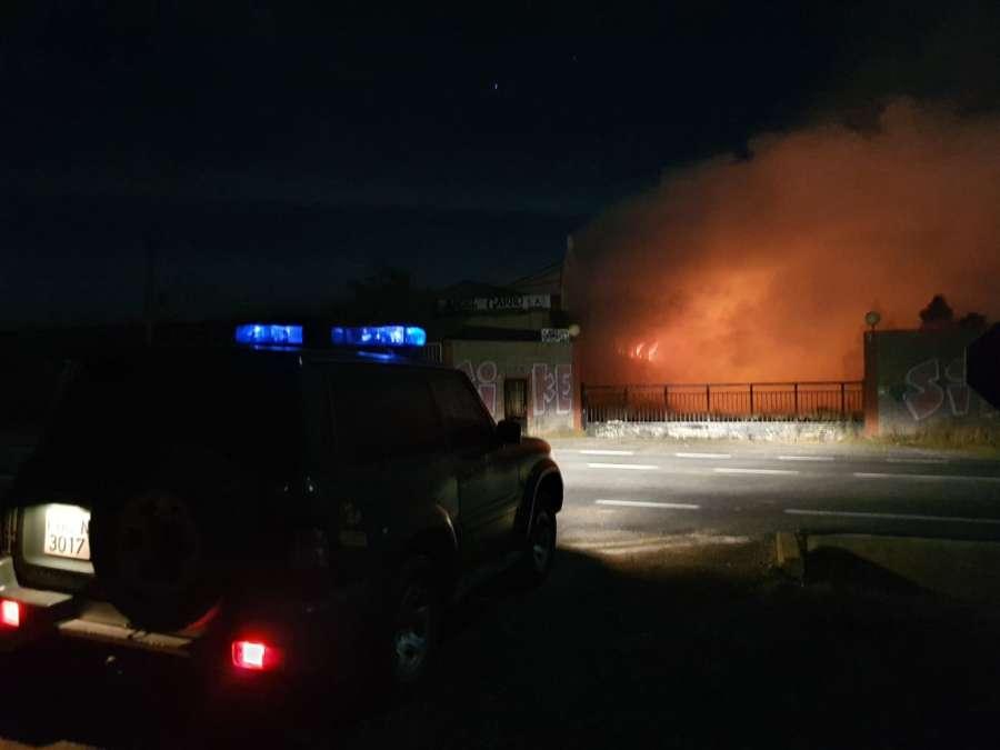 Incendio en fabrica abandonada de Santacara