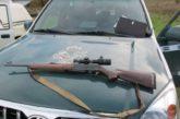 Incautada un arma de larga rayada en Petilla de Aragón (Navarra)