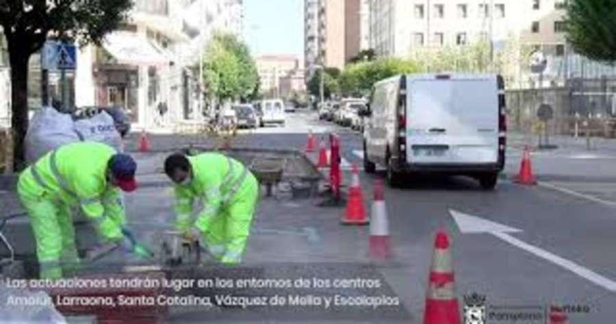 Pamplona mejora la seguridad y la movilidad en el entorno de cinco centros escolares de la capital