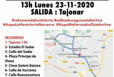 Manifestación de Hostelería por todo Navarra este lunes 23 de noviembre