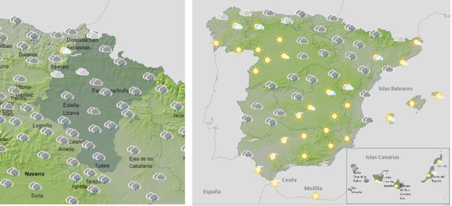 El tiempo hoy martes con descenso de las temperaturas y nieve entre 1600-1400 m.