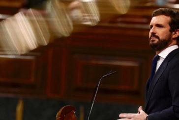 Casado pide al Gobierno que baje el IVA de las mascarillas al cero por ciento