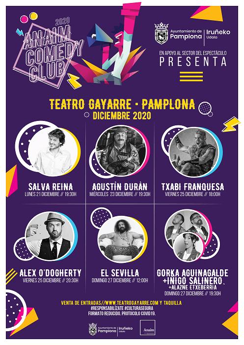 A la venta las entradas para los 6 espectáculos de humor organizados por el Ayuntamiento en el Teatro Gayarre
