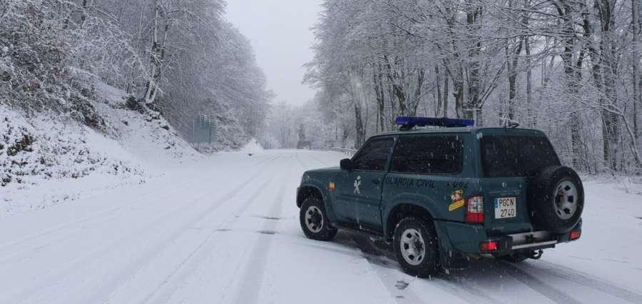 Recomendaciones de Guardia Civil ante las nevadas en la Comunidad Foral de Navarra