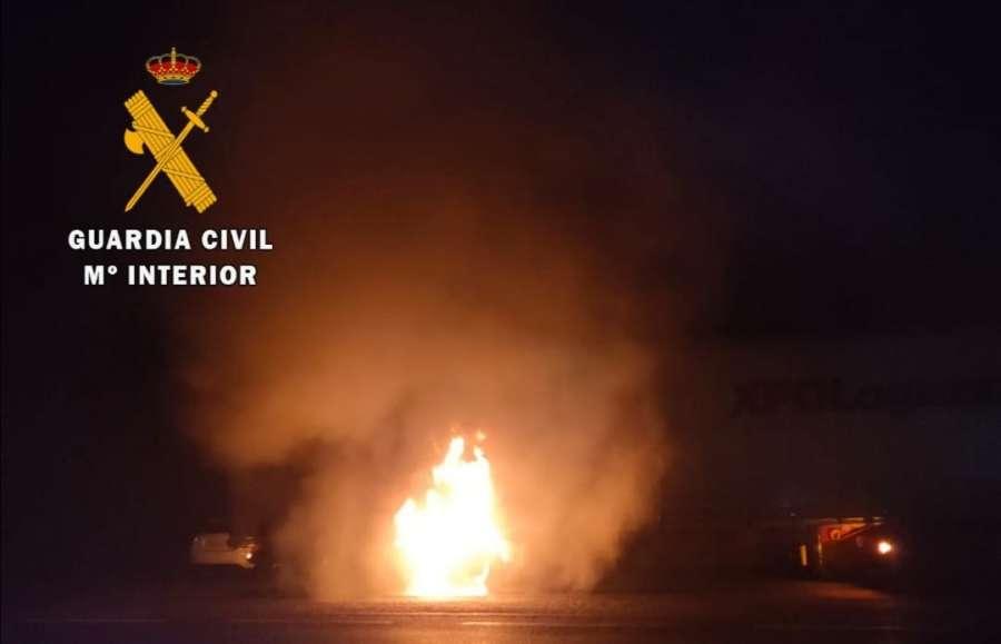 Incendio de un Camión en Ventas de Arráiz