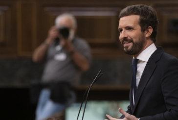 """Casado denuncia todas las mentiras de Sánchez y le acusa de convertir el """"estado de alarma en una alarma de estado"""""""