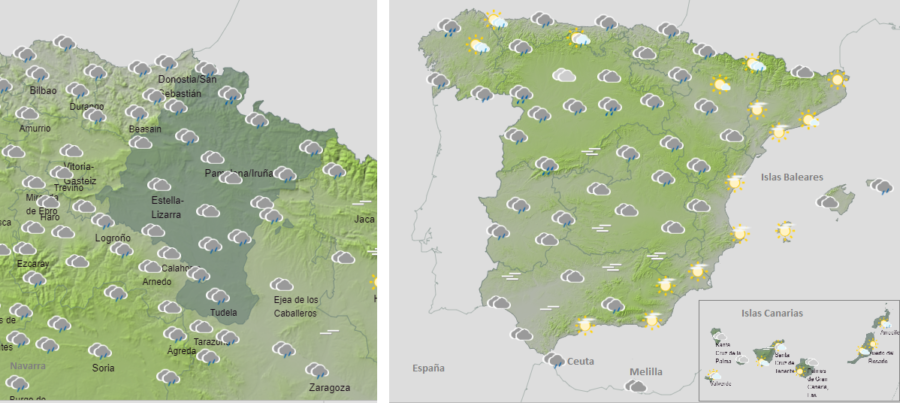El tiempo hoy viernes con lluvias, deshielo y aludes