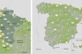 El tiempo hoy miércoles viento fuerte en Navarra, litoral gallego, cordillera Cantábrica y Pirineos