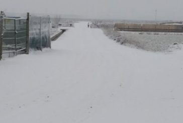 La nieve caída en la Ribera no afecta a la red viaria ni se registran incidencias