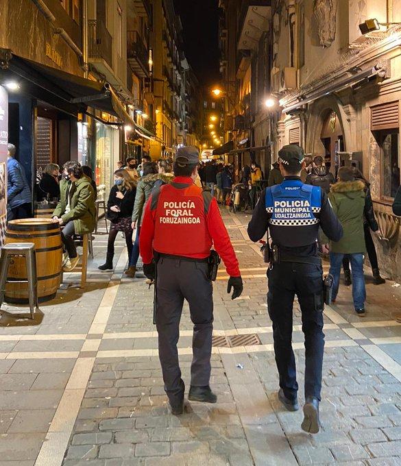 93 denuncias en Pamplona por incumplimiento de la normativa sanitaria frente al coronavirus