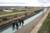 Cabanillas estrena paseo peatonal a lo largo del canal de Tauste